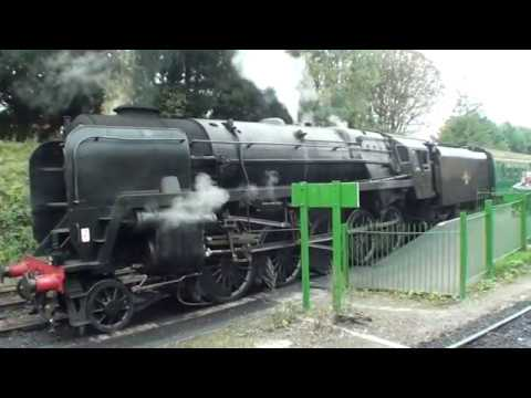BR 4MT & BR 9F at Alresford on the Mid Hants Railway in Octo…