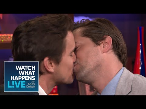 Matt Bomer and Andrew Rannells get 'uncomfortably close', then kiss