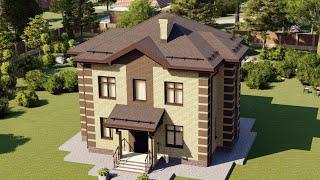 Проект дома 157-B, Площадь дома: 157 м2, Размер дома:  8,4x8,4 м