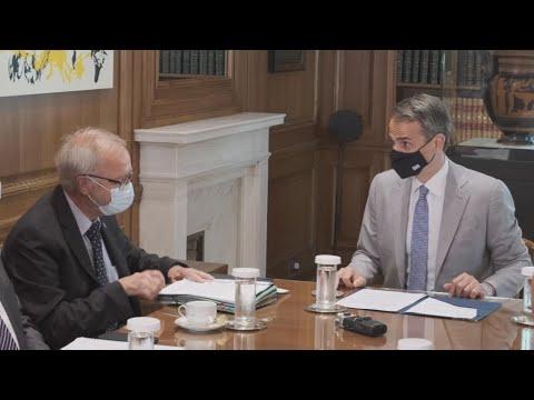 Συνάντηση του Πρωθυπουργού με τον Πρόεδρο της Ευρωπαϊκής Τράπεζας Επενδύσεων (ΕΤΕπ) Werner Hoyer