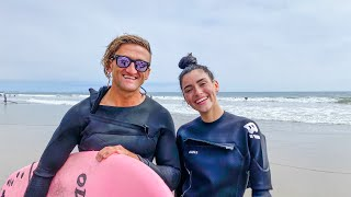 I went surfing with Casey Neistat | Dixie D'Amelio