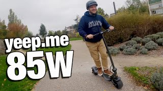 yeep.me 85w : la Batmobile électrique à deux roues ! + CONCOURS