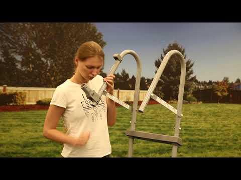 "Bestway Flowclear™ 48""/1.22m Pool Ladder - Setup"