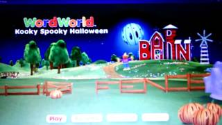 WordWorld- Kooky Spooky Halloween Menu Fail!