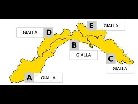 ANCORA MALTEMPO IN LIGURIA, ALLERTA GIALLA FINO ALLE 17 DI  DOMANI