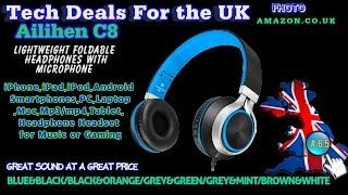 Tech Checker #65 Ailihen C8 Lightweight Foldable Headphones with Microphone