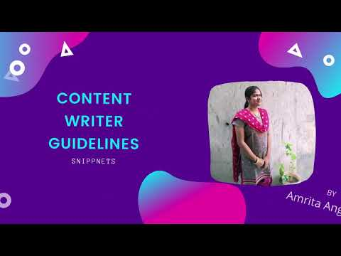 Spotknack | Content Writer Guidelines for Students | Amrita Angappa