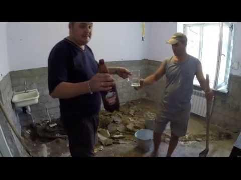 Частный дом - ремонт день #31 Понеделник, сбиваем плитку и снимаем пол в кухне