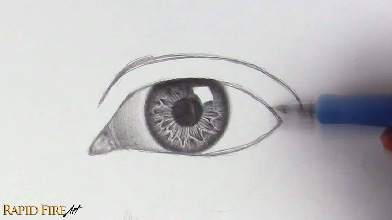 drawing realistic eyes by rapidfire art