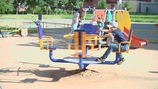 Открытие новой детской площадки в ЗШК