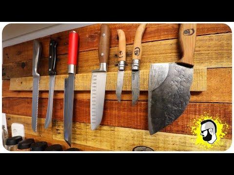 Messerleiste (magnetisch) aus Holz selber bauen