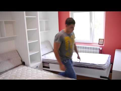 Dormitor Copii cu 2 Paturi Rabatabile D 235
