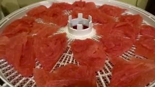 Арбузные чипсы или сушеный арбуз / Watermelon chips or desiccated watermelon