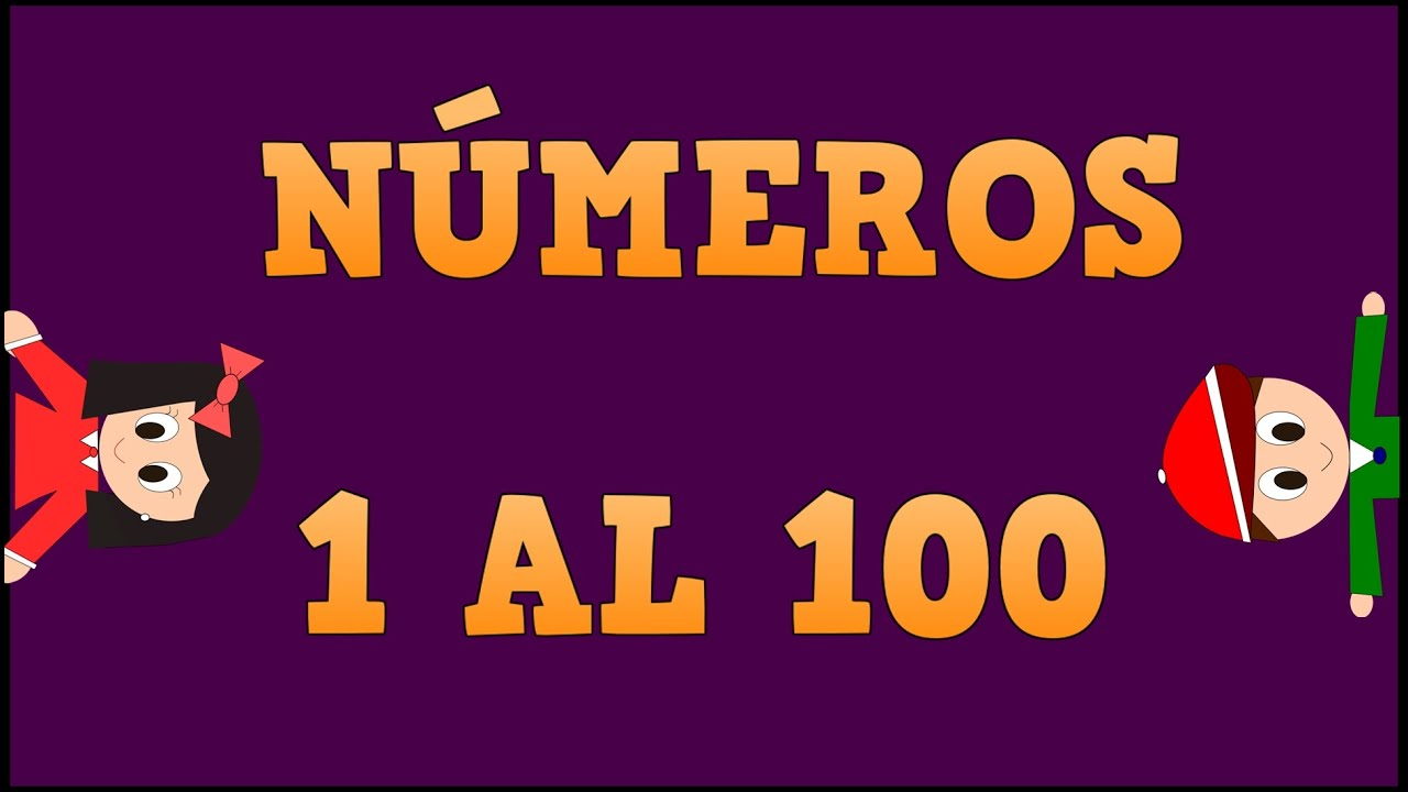 Números del 1 al 100 - Numbers 1 to 100 in Spanish for kids -Vídeos educativos