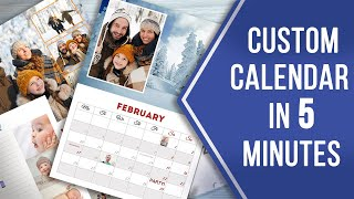 How To Make A Custom Calendar With Pictures 📅 Awesome Design In A Minute