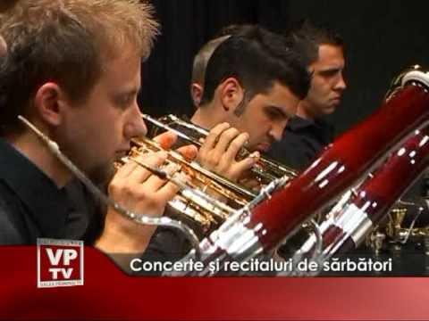 Concerte şi recitaluri de sărbători