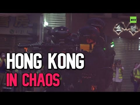 Hong Kong in chaos: Molotovs, teargas, and water cannons