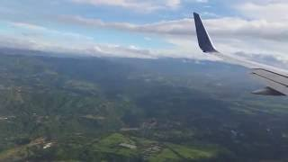 Daytime landing at San Jose International Airport Costa Rica