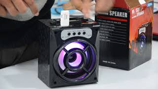 How to Use MS-132BT Bluetooth Speaker Which Comes With USB, TF CARD Slot, AUX, RADIO FM & Bluetooth