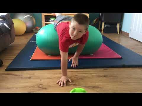 Screenshot of video: Peanut Ball Exercises