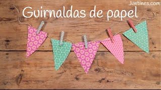 Cómo hacer GUIRNALDAS de papel fáciles | Manualidades para DECORAR una fiesta
