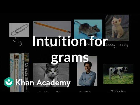 Understanding mass (grams and kilograms) (video) | Khan Academy