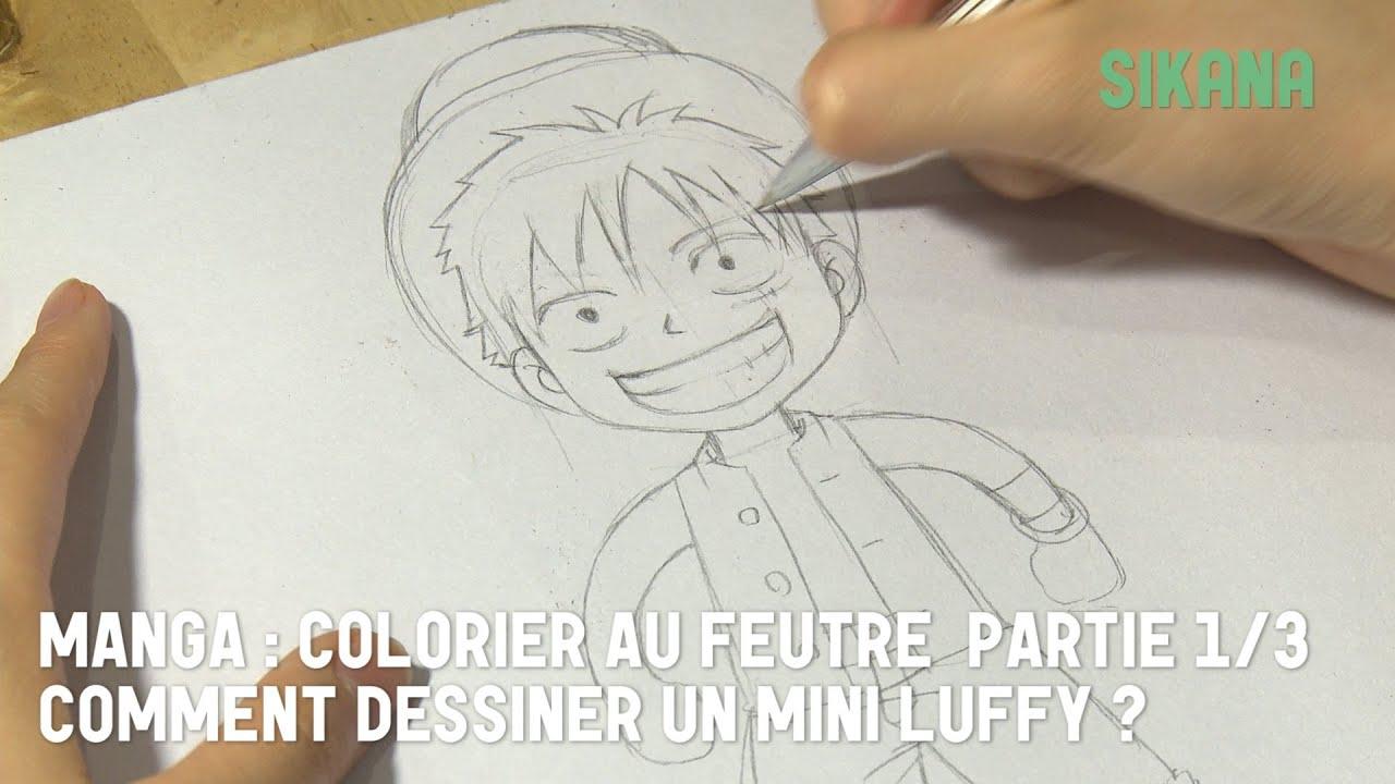 Luffy de one piece 1 dessiner dessiner des personnage de bd et mangas sikana - Comment colorier un manga ...