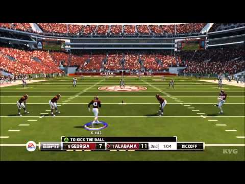 NCAA Football 14 - Georgia vs. Alabama Gameplay [HD]