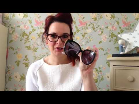 Review of Christian Dior huge sunglasses,prescription glasses diorific designer style