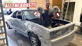 We Got Some MASSIVE TURBSKIES For Our 2000+Hp El Camino Project!!! (freedom whistlers)
