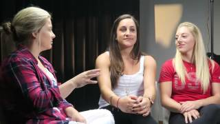 Jordyn Wieber + Samantha Peszek + Shawn Johnson
