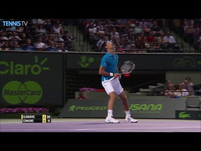 Djokovic Makes Unbelievable Catch Miami 2016