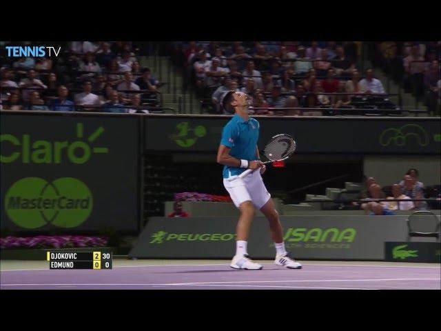 Djokovic Makes Unbelievable Catch Miami 2016