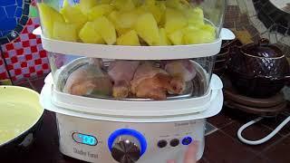 Первая готовка в пароварке STADLER FORM Steamer One SFS 900 Картошка и куриные ножки в пароварке