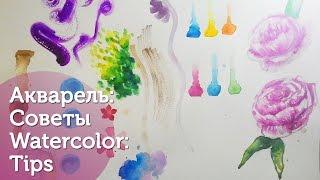 Акварель: Трюки и Советы. Часть 1: Советы./ Watercolor tips and tricks