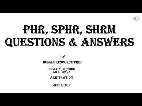 PHR SPHR Practice Exam Prep Eight. PHR Certification Exam Self ...