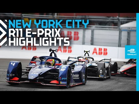 フォーミュラE ニューヨークE-PRIX 決勝レースのハイライト動画