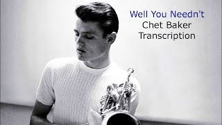 Well You Needn't-Chet Baker's (Bb) Transcription. Transcribed by Carles Margarit.
