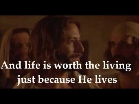 Download Because He Lives I Can Face Tomorrow - Lyrics & Movie HD Mp4 3GP Video and MP3
