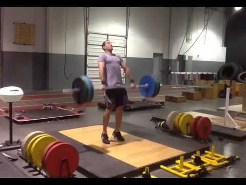 Barbell Clean slow motion