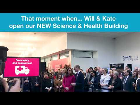 That moment when...Will & Kate open our new Science & Health Building