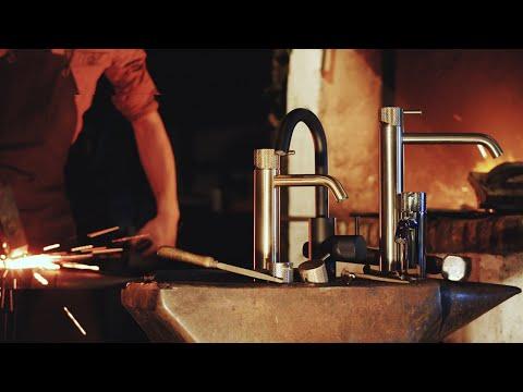 Hotbath Cobber X CX00518 inbouw wastafelkraan met 18cm uitloop mat zwart