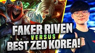 FAKER BRINGS BACK RIVEN vs BEST ZED KOREA! - T1 Faker Plays Riven Mid vs Zed! | KR SoloQ Patch 11.5