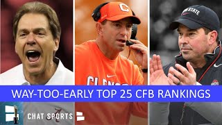 2020 College Football Top 25: Way-Too-Early Rankings For Ft. Clemson, LSU, Ohio State & Alabama