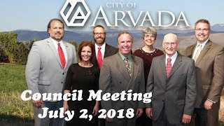 Preview image of City Council Meeting July 2 2018