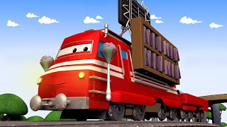 Vláčky pro děti - Ve Městě vlaků je čtenářský den - Vláček Troy ve Městě Aut