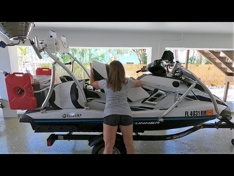 HOW TO Setup Rig YAMAHA FXHO WaveRunner for Fishing