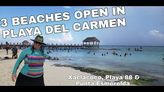 3 Beaches OPEN in PLAYA DEL CARMEN MEXICO!! Are they enforcing the rules??