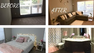DECORATING MY WHOLE APARTMENT ON A BUDGET (WALMART, AMAZON AND ROSS)