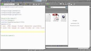 LaTeX Tutorial 10 Inserting Images Into Your Document